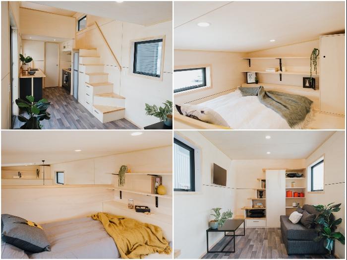 Новозеландские архитекторы смогли спроектировать крошечный домик с двумя спальнями на площади 19,2 кв.м. («Home Haven»). | Фото: buildtiny.co.nz/ © «Build Tiny».