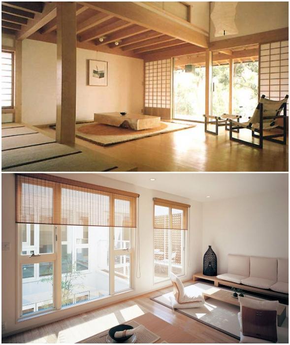 Полное отсутствие радиаторов системы отопления – отличительная черта японского жилища.
