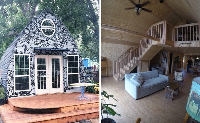 Каркасный арочный дом созданный американской фирмой Arched Cabins может стать прекрасной альтернативой загородного дома.