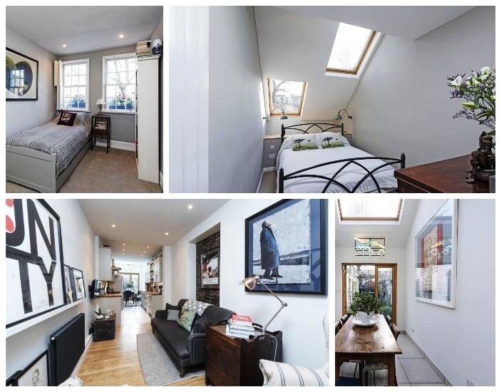 Преобладание белой цветовой гаммы в интерьере и наличие окон визуально увеличило пространство дома (Slim House, Англия). | Фото: syndyk.by.