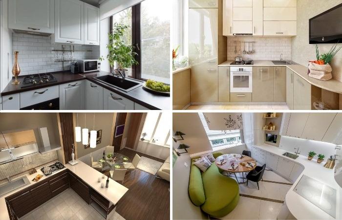 Варианты современных угловых кухонных гарнитуров, которые помогут создать практичный и стильный интерьер.
