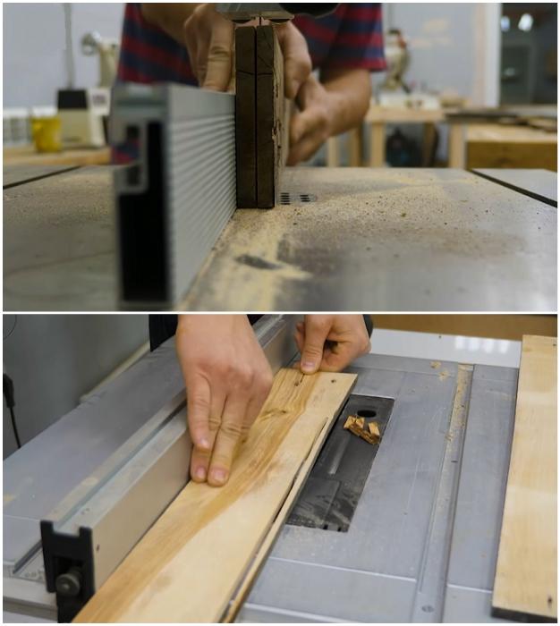 Если имеется деревообрабатывающий станок, полки можно сделать более тонкими и гладкими.