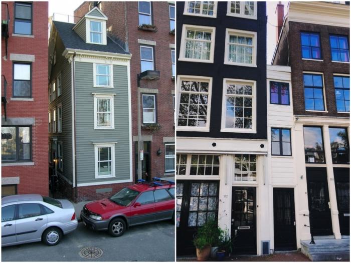 В Европе с XVII века начали строить узкие дома, чтобы уменьшить сумму налогов.