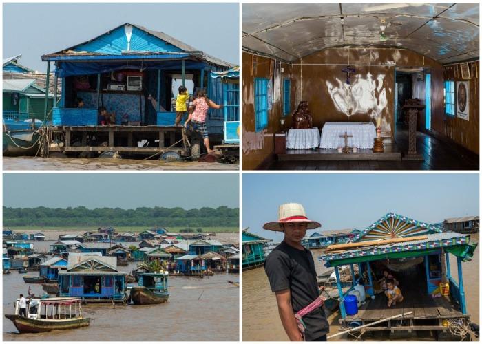 Так живут люди в плавучих деревнях на острове Танлесап (Камбоджи). | Фото: varlamov.ru.