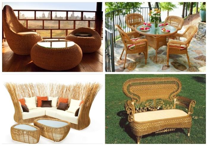 Большая часть мебели изготавливается из ротанга, ивовых прутьев, лозы черемухи, ольхи, малины, лещины. | Фото: berkem.ru.