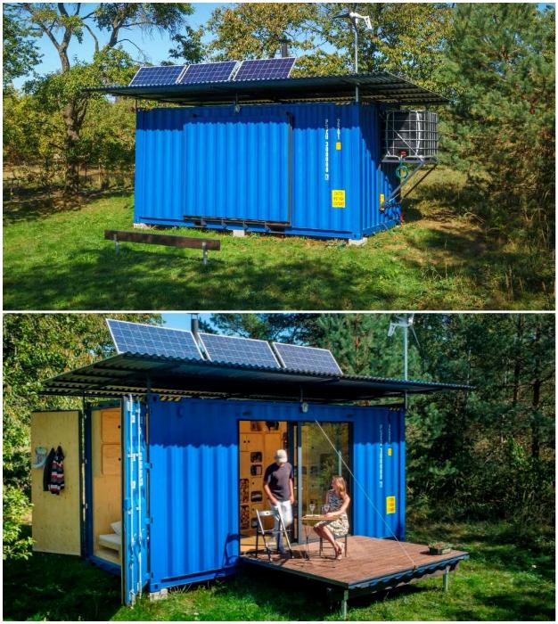 Чехи разработали автономный контейнерный дом Gaia, который можно приобрести или построить самостоятельно.