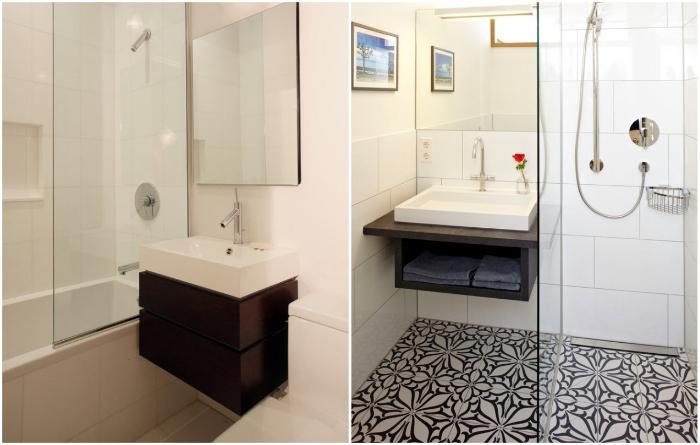 Навесные рукомойники иногда помогают «спасти» ванну от демонтажа. | Фото: remontbp.com.