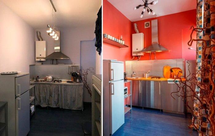 Преобразование кухни в малогабаритной квартире за минимальные деньги (проект дизайнера Полины Аникеевой). | Фото: realty.mail.ru.