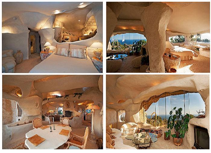 Вид  интерьеров дома действительно напоминает каменный век.