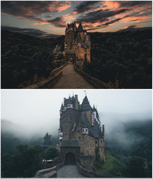 Burg Eltz – это невероятно зловещее здание станет идеальным местом для фильма о вампирах (Виршем, Германия). | Фото: zastavki.com/ interestingengineering.com.