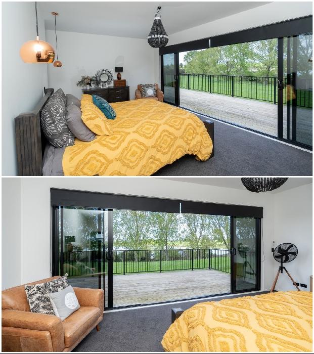 С каждой спальни есть выход на открытый балкон или террасу. © Trade Me.