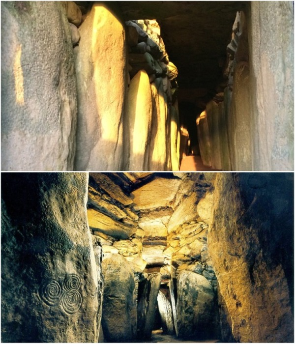 Только в день зимнего солнцестояния солнечный луч проходит таинственным 19-метровым коридором Ньюгрейнджа, освещая главный культовый зал. | Фото: izverzhenie-vulkana.ru.