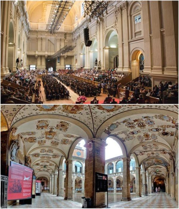 Старинные корпуса до сих пор вызывают удивление и восторг своими архитектурными формами (Universita di Bologna, Италия). | Фото: italiatut.com.
