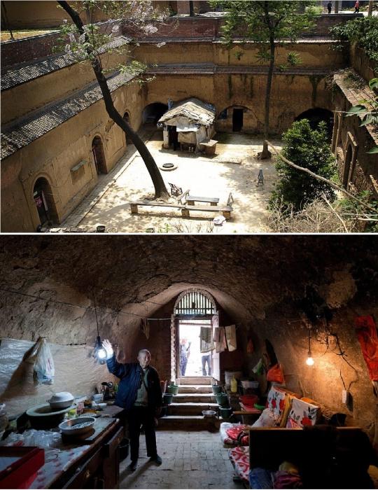 30 млн китайцев живут в подземных домах яодун. | Фото: oglavnom.su/ bugaga.ru.
