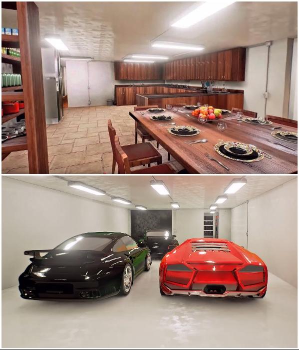 В подземных бункерах «Aristocrat» предусмотрено надежное укрытие не только большому количеству людей, но и их автомобилям. | Фото: forbes.ru.