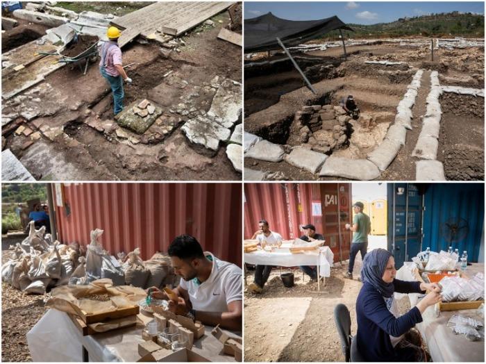 Каждый пласт территории и все находки тщательно исследуются командой израильских специалистов (Motza, Израиль). | Фото: stmegi.com.