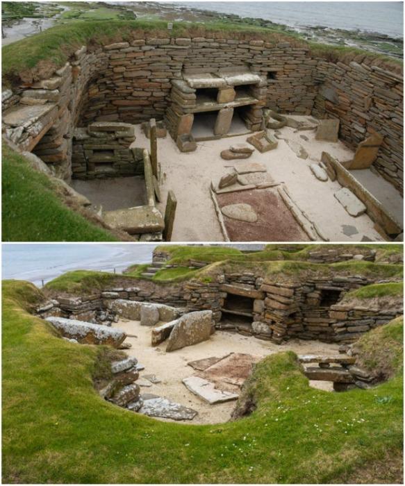 Скара-Брей – одна из древнейших хорошо сохранившихся неолитических стоянок в Европе (Оркнейские острова, Шотландия). | Фото: ru.newsner.com.