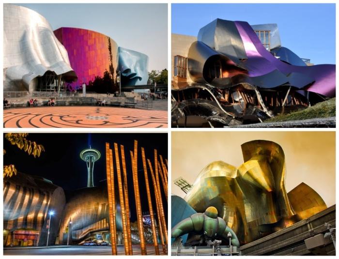 Внешний облик самого восхитительного архитектурного ансамбля в мире (Experience Music Project and Science Fiction Museum and Hall of Fame, США). | Фото: hunan.voc.com.cn.