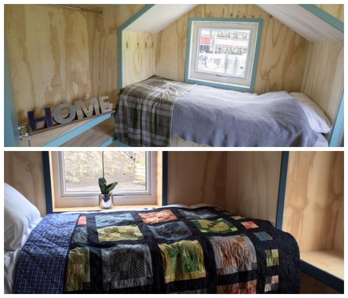 В каждом домике есть две спальни (Social Bite Village, Шотландия).