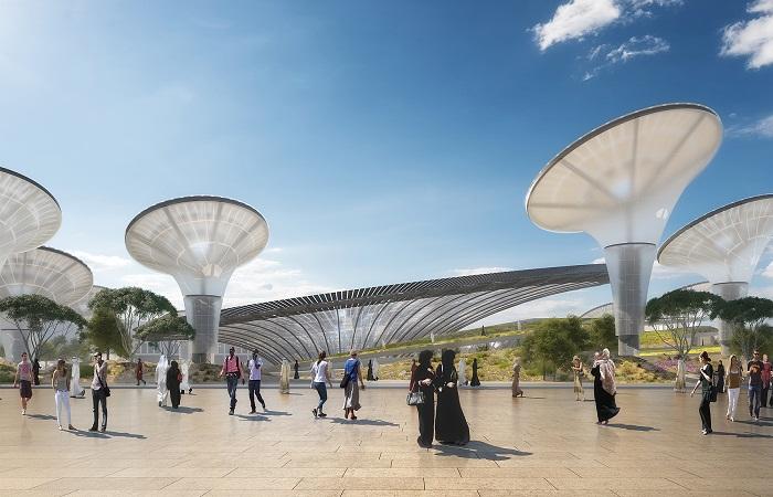 В павильоне устойчивости установили несколько сотен солнечных батарей (District 2020).