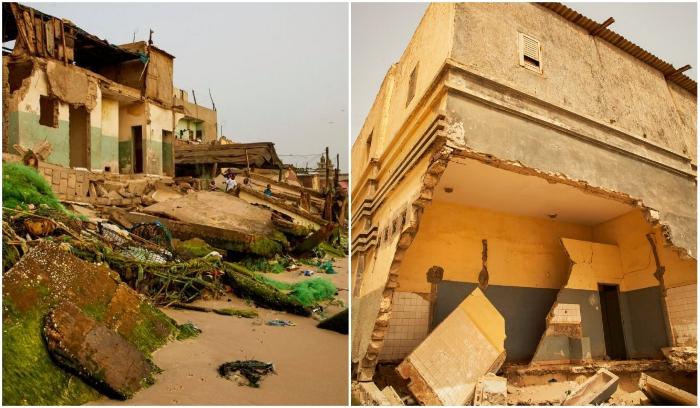 Город постепенно поглощается водами Атлантического океана (Saint Louis, Сенегал). | Фото: bigpicture.ru.