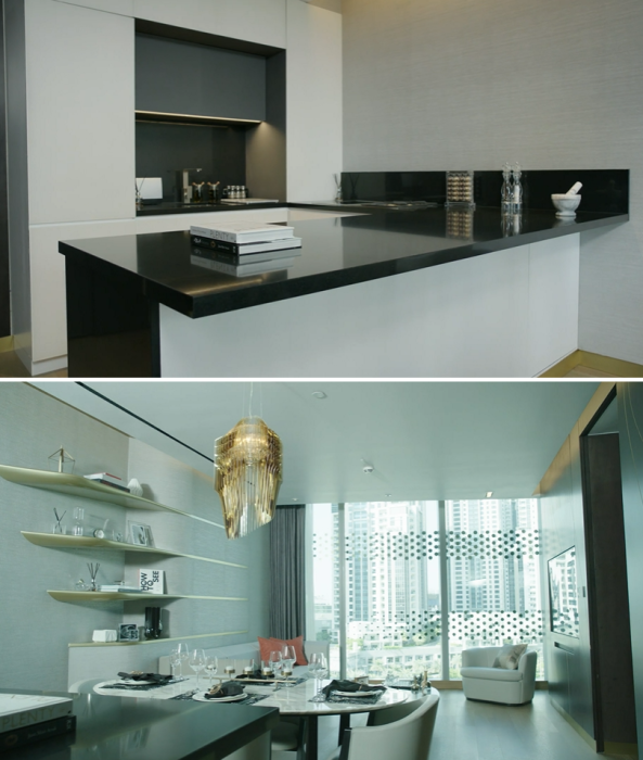 Интерьер резиденции, созданной в отельном комплексе «The Opus» (Дубай). | Фото: youtube.com/ © Omniyat Group.