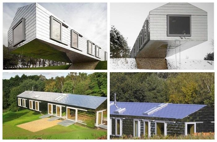 Огромные панорамные окна и скайлайты делают дом уютней и светлее («Balancing Barn»).