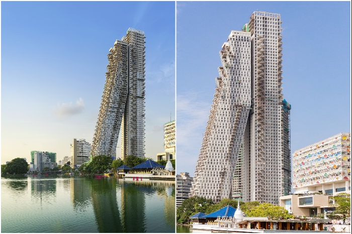 Башня «Альтаир» – самое высокое жилое здание в Шри-Ланке. | Фото: altair.lk/ safdiearchitects.com.