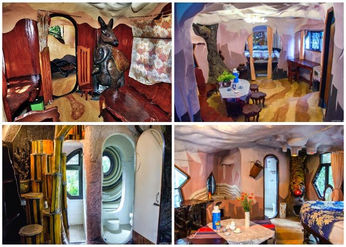 Неординарные решения помогли создать сказочный интерьер (Crazy House, Вьетнам).