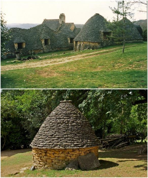 Уникальные в своем роде каменные домики «la cabane» можно увидеть в Аквитании на холмах и в долине возле реки Дордонь (Франция). liveinternet.ru.