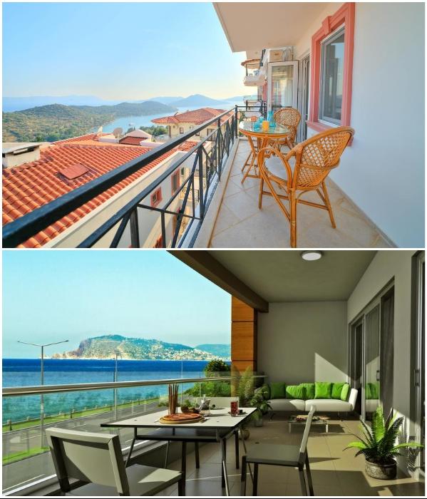 Наличие больших балконов, лоджий или террас – норма для турецких квартир. | Фото: booking.com/ more.estate.