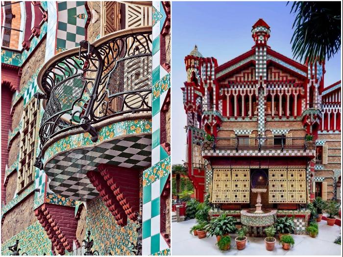 Casa Vicens (Дом Висенс) – это одно из самых знаковых творений Антонио Гауди. | Фото: barcelona.ticketbar.eu/ mymodernmet.com.