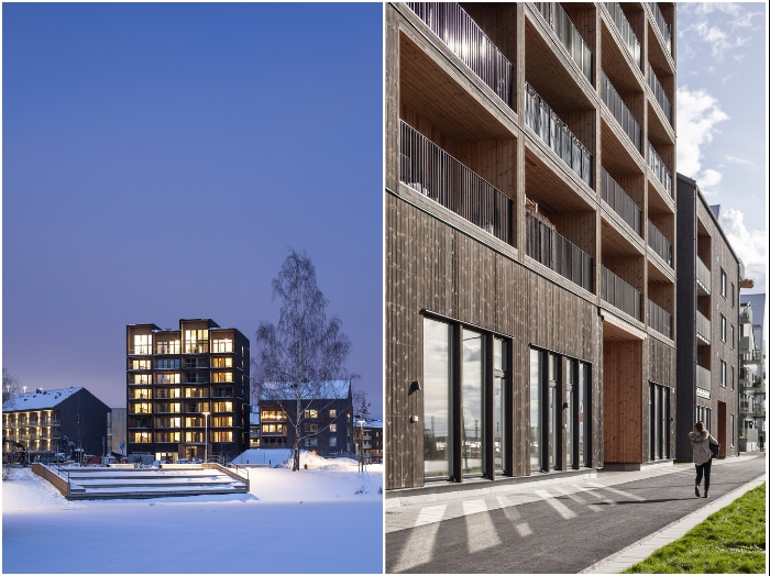 В конце 2019 года дом был сдан в эксплуатацию и сразу же заселен (ЖК «Kajstaden», Швеция). | Фото: archdaily.com/ © Nikolai Jakobsen.