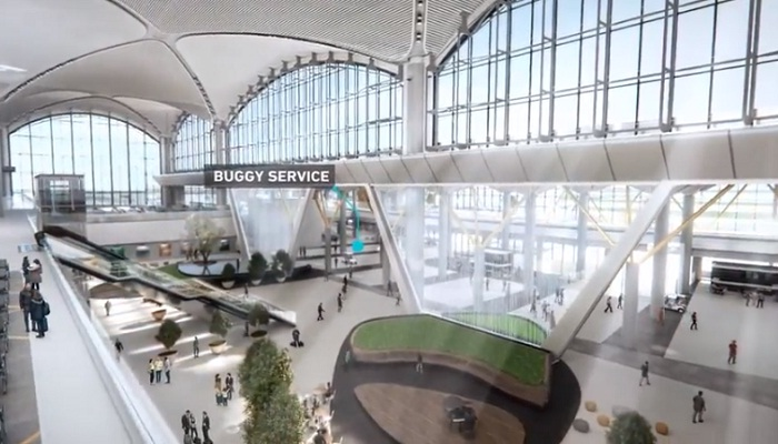 Одна из лаунж-зон в новом аэропорту «Стамбул» (Турция).