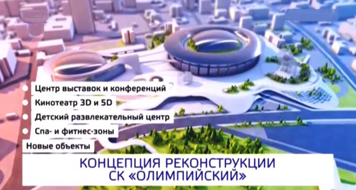 Главная концепция реконструкции СК «Олимпийский» в Москве. | Фото: youtube.com.