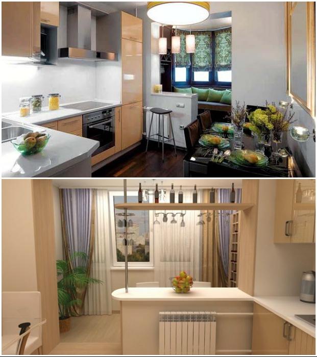 Объединение балкона с кухней возможно лишь при сохранении несущей стены и подоконного блока.
