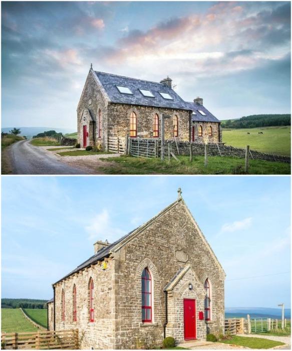 Старинную часовню превратили в стильный коттедж, но при этом сохранили исторический вид (Великобритания). | Фото: mymodernmet.com.
