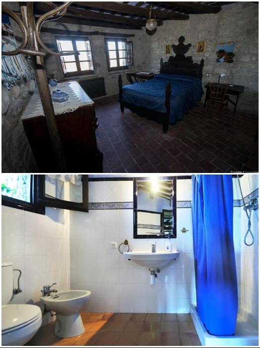 При каждой спальне есть благоустроенная ванная комната («Castell de Llaes», Испания). | Фото: booking.com/ tripadvisor.es.