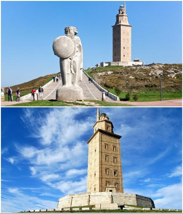 «Геркулесова башня»  – самый древний действующий маяк на планете. | Фото: travelflights.ru/ orangesmile.com.