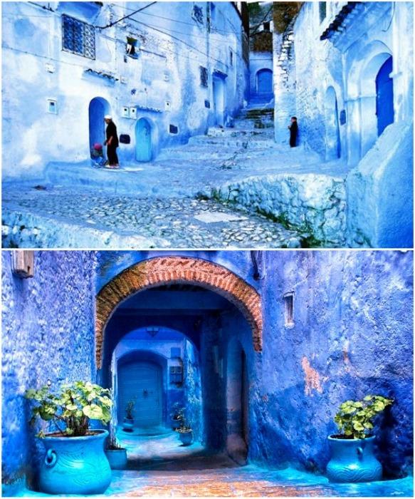 Историческая часть города полностью сохранила очарование старинных домов и колорит улочек (Chefchaouen, Марокко). | Фото: orangesmile.com.