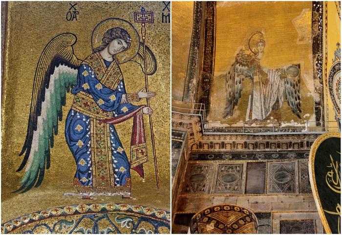 Христианские мозаики собора Святой Софии (Стамбул, Турция).