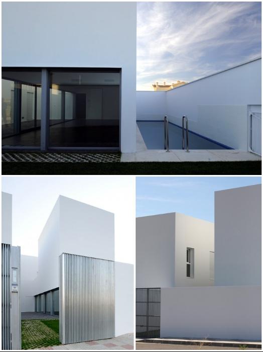 Огромные окна выходят только лишь во внутренний двор («RG House», Badajoz).   Фото: archcenter.org.