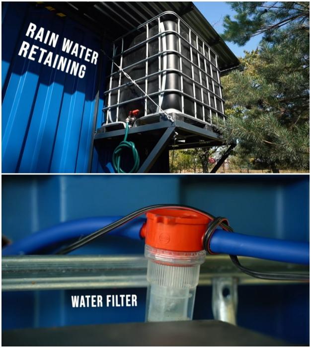 Система сбора и очистки дождевой воды (Gaia, проект Pin-Up Houses).