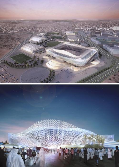 Новый стадион Al-Rayyan покажет всю красоту песчаных дюн катарской пустыни (проект архбюро Pattern Architects, Катар-2022). | Фото: pattern-architects.com.