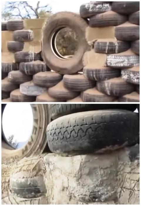 Оконные проемы надежно укрепил с помощью цементного раствора. | Фото: motor2.info.