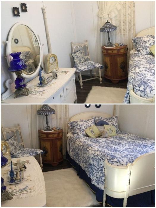 Для спальни был приобретен старинный комод, а кровать отдала мама Дебби. | Фото: hometalk.com/ © Debbi W.