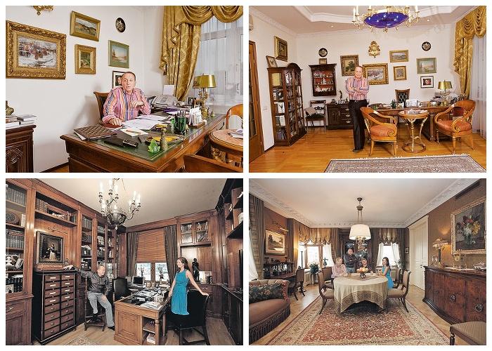 Интерьер элитной квартиры (площадью 200 кв. метров) Александра Маслякова в центре Москвы.