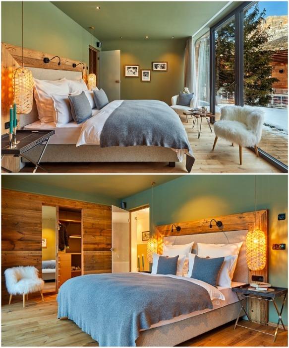 Из роскошной спальни открывается необычайно красивый вид (курорт La Villa, Mi Chalet). | Фото: decomyplace.com/ © Luca Visciani.