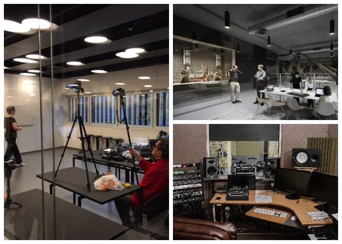 В центральной библиотеке Oodi оборудованы различные студии, которыми можно воспользоваться бесплатно (Хельсинки, Финляндия).