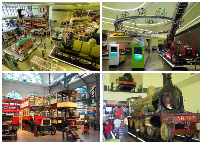 Уникальные экспонаты Музея транспорта Риверсайд (Глазго, Великобритания).